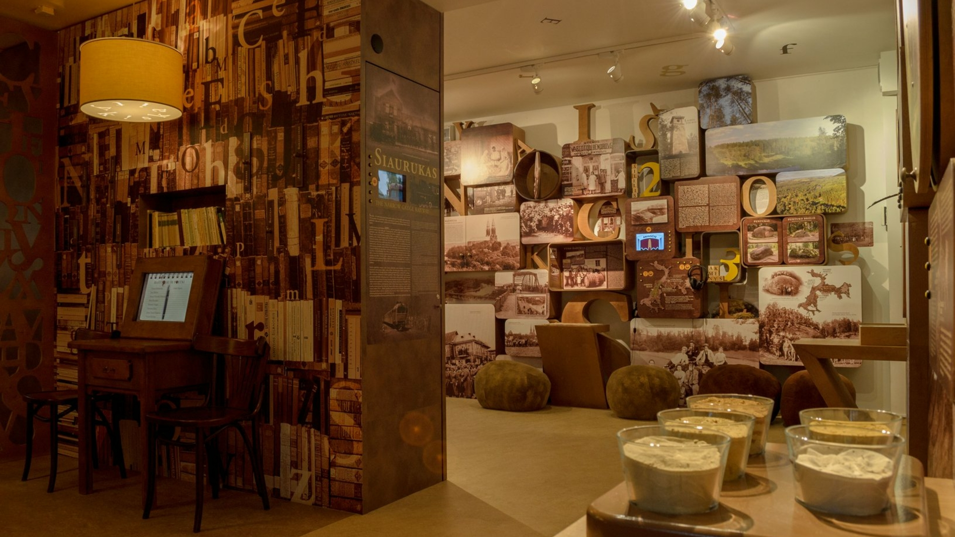Anykščių regioninio parko lankytojų centro ekspozicija