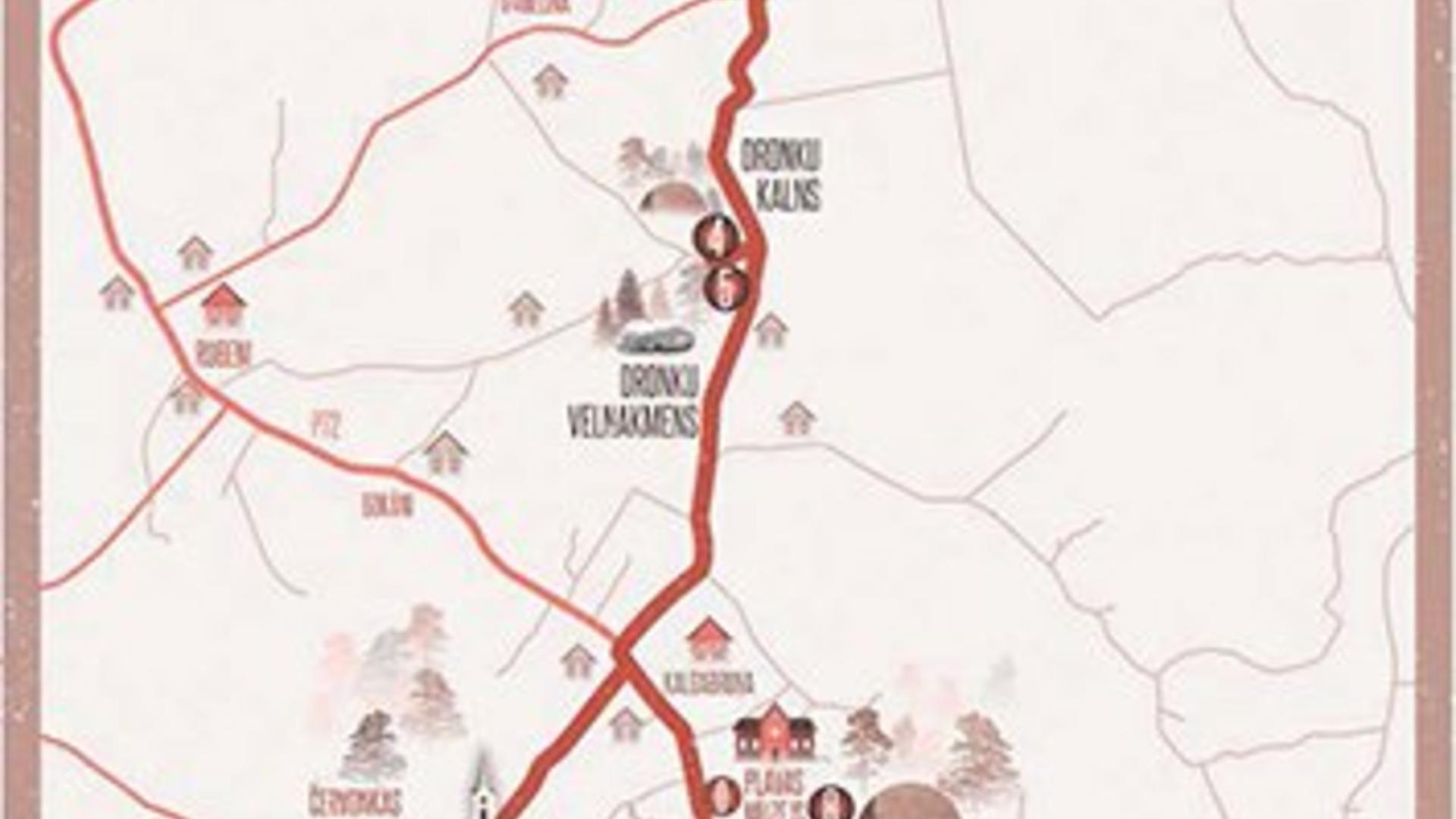 "A trip by bike ""1st adventure of poet Rainis"""